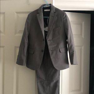3-piece boys gray suit